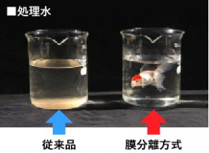 後処理なしで処理水の再利用が可能